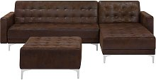 Beliani - Modular Left Hand L-Shaped Sofa Bed