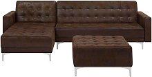 Beliani - Modular Right Hand Corner L-Shaped Sofa