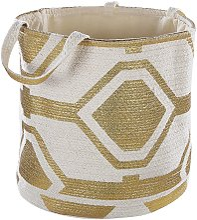 Beliani - Natural Cotton Woven Storage Basket
