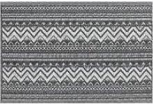 Beliani - Outdoor Area Rug 120 x 180 cm Black