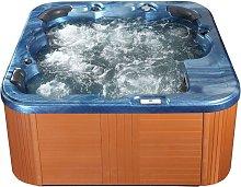 Beliani - Outdoor Spa Hot Tub Blue Plastic Wood