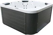 Beliani - Outdoor Spa Hot Tub Silver Plastic Wood
