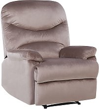 Beliani - Reclining Chair Manual Adjustable Back