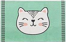 Beliani - Rectangular Small Area Rug Kids Room Nursery Cat Design 60 x 90 cm Green Howrah