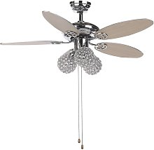 Beliani - Retro Ceiling Fan with Light 3 Shades
