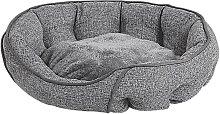 Beliani - Round Pet Bed 60 x 50 cm Linen Dog Cat