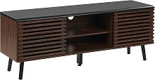 Beliani - Rustic TV Cabinet with 2 Sliding Doors