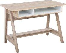 Beliani - Scandinavian Computer Desk with Shelves