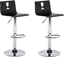 Beliani - Set of 2 Modern Acrylic Swivel Bar