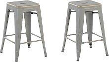 Beliani - Set of 2 Modern Dining Living Room Metal