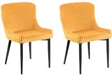 Beliani - Set of 2 Velvet Dining Side Chairs