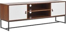 Beliani - TV Stand Media Unit with Cable