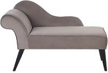 Beliani - Vintage Left Hand Velvet Chaise Lounge