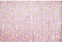 Beliani - Viscose Area Rug 140 x 200 cm