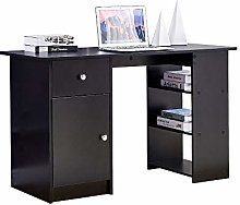 BELIFEGLORY Computer Desk with Storage, Wooden