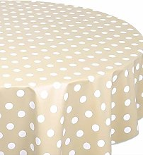 Belito Beige Tablecloth Polka Dot Beige Pvc