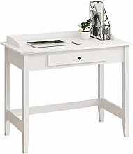 Beliwin Computer Writing Desk White with Drawer