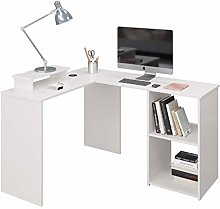 Beliwin L- Shaped Computer Desk with Charge