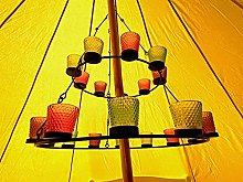 Bell Tent Glamping Double Tier Multi Coloured Tea