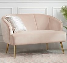 Bella Pink Fabric 2 Seater Sofa