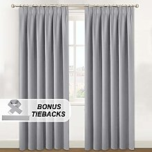 BellaHills Blackout Curtain Drapes - Tape Top