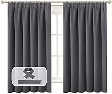 BellaHills Blackout Curtain Window Panel Drape