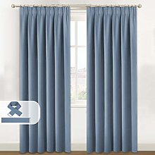 BellaHills Blackout Curtains for Bedroom - Pencil
