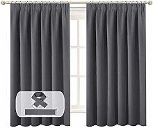 BellaHills Blackout Curtains Pencil Pleat Bedroom