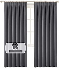 BellaHills Blackout Curtains - Pencil Pleat Window