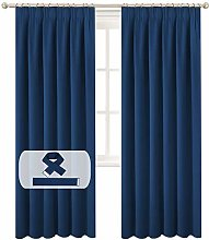 BellaHills Navy Blackout Curtains for Bedroom -