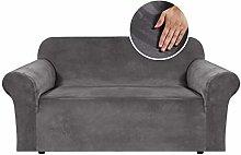 BellaHills Stretch Velvet Sofa Covers for 2