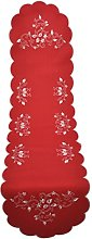 Bellanda Table Runner, Polyester, red, 40x160