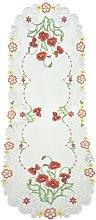 Bellanda Table Runner, Polyester, weiß, 110 x 40