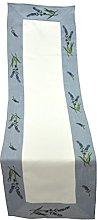 Bellanda Table Runner, Polyester, weiß, 150 x 40