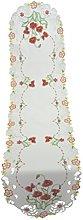 Bellanda Table Runner, Polyester, weiß, 160 x 40