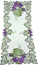 Bellanda Table Runner, Polyester, weiß, 85 x 40 x