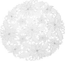 Bellanda Table Runner, Polyester, White, 60 x 60 x