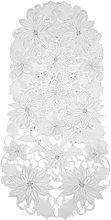Bellanda Table Runner, Polyester White, 85 x 40 x