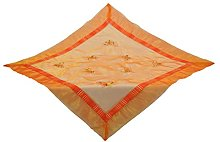 Bellanda Tablecloth, Polyester, Orange, 85 x 85 x