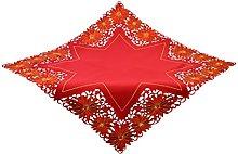 Bellanda Tablecloth, Polyester, red, 100 x 100 x