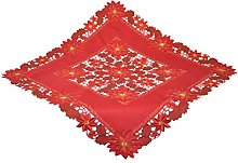 Bellanda Tablecloth, Polyester, red, 110x110 cm