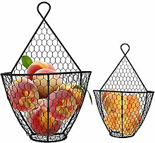 Belle Vous Fruit Basket (2 Pack) - Wall Mounted