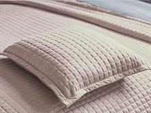 Belledorm Crompton Powder Pink Throw and Cushion