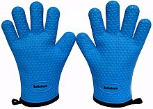 Belleham Silicone Oven Gloves Blue Pair with