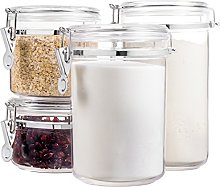 Bellemain 4 Piece Airtight Acrylic Canister Set,