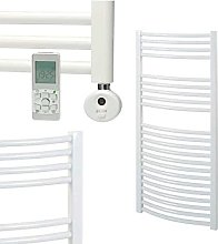 Bellerby Curved Thermostatic Electric Heated Towel