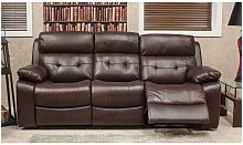 Belmont Reclining 3 Seater Leather Look Fabric