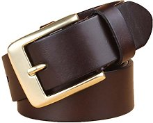 Belt Men With Pure Copper Buckle Retro Business