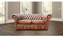 Belvedere Chesterfield 2 Seater Antique Leather