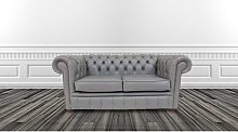 Belvedere Chesterfield 2 Seater Leather Sofa